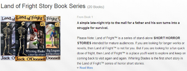 Land of Fright™ series page on Amazon